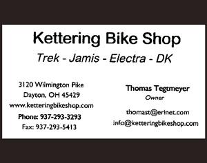 Image: Ad for Kettering Bike Shop