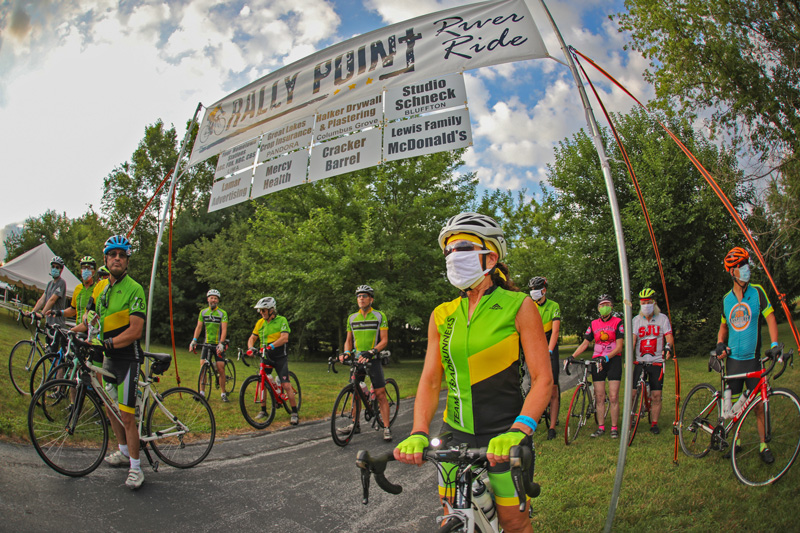 Rally Point River Ride -- 2020. Many participants wearing face coverings during the COVID-19 pandemic. Photo Provided.