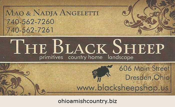 The Black Sheep  Ohio Amish Country Biz