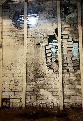 Crumbling support wall in basement of business caused concern until we stepped in.