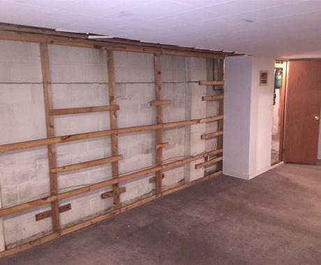 Wall Anchors Stabilize & Straighten a Cracking, Bowing Foundation Wall in Columbus