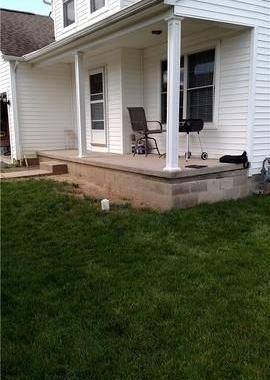 Helical Piers Lift and Stabilize Settling Porch Foundation in Pickerington, OH
