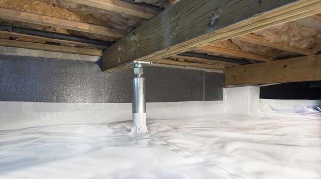 vapor barrier and thermal insulation