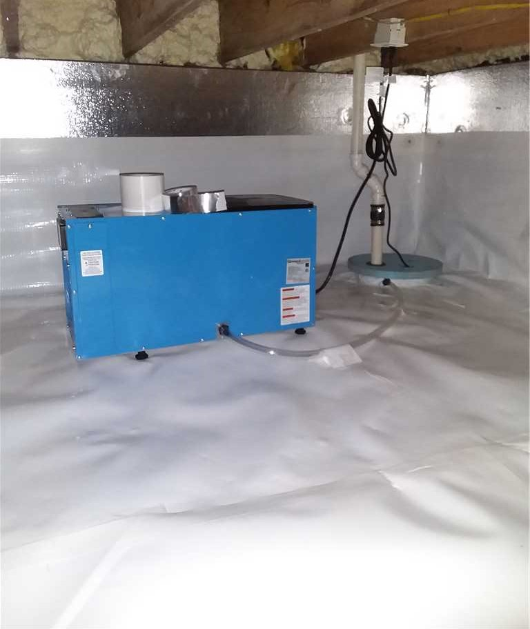 crawl space waterproofing and encapsulation