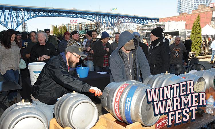 Winter Warmer Fest cask area