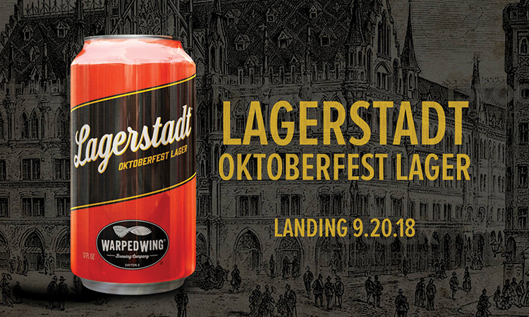 Warped Wing Lagerstadt Oktoberfest Lager. Landing 9.20.18.