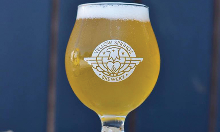 Yellow Springs Subtle Dust saison in snifter glass