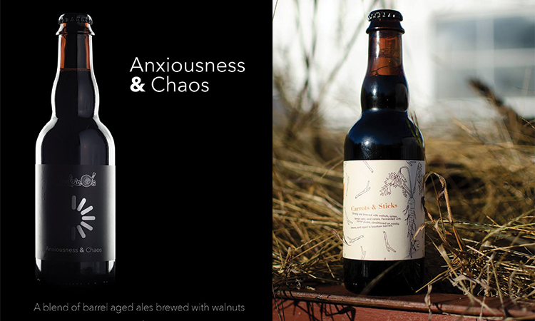Jackie O's Brewery - Anxiousness & Chaos bottle, Carrots & Sticks bottle