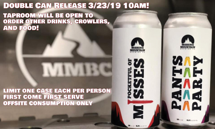 Missing Mountain Brewing - Pocketful of Misses and Pants Party cans