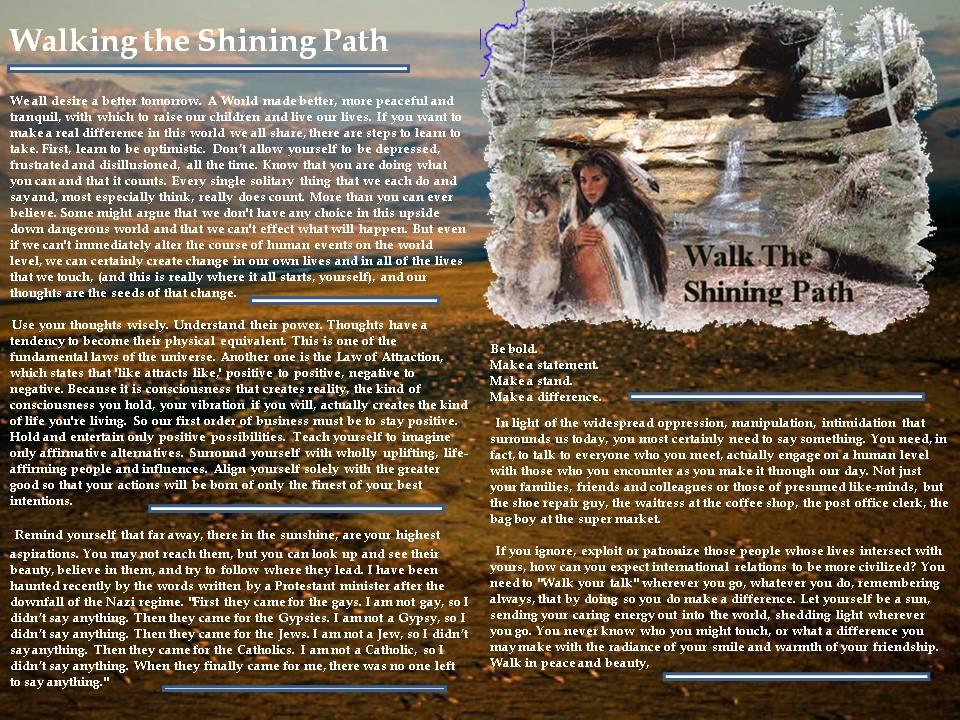 Walking the Shinning Path