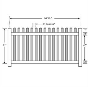 Vinyl Picket Fence Standard Ohio Fence Company