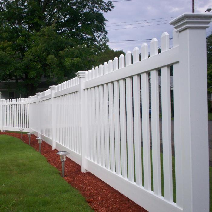Vinyl Picket Fence Traditional Ohio Fence Company