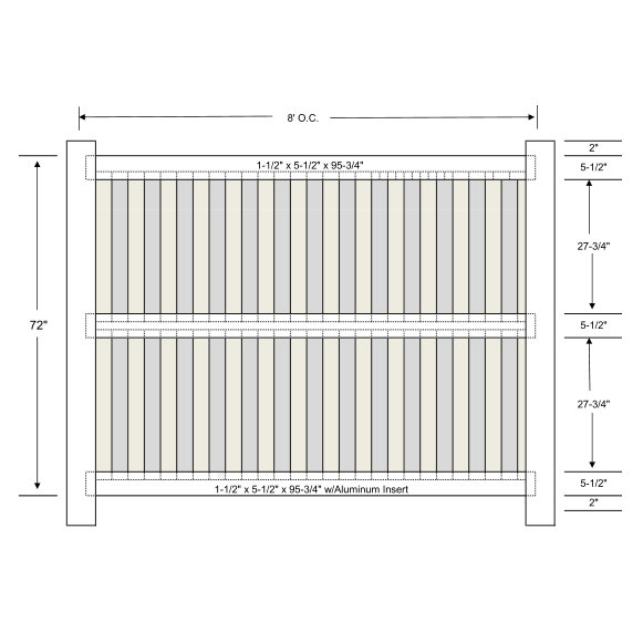 Vinyl Shadowbox Fencing 3 Rail Ohio Fence Company