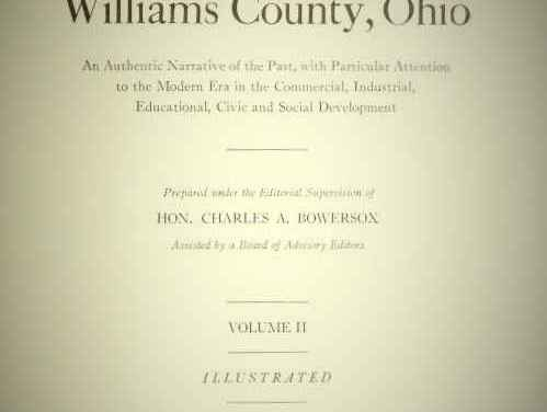 Biography of Walter S. Tomlinson of Williams Center, Ohio