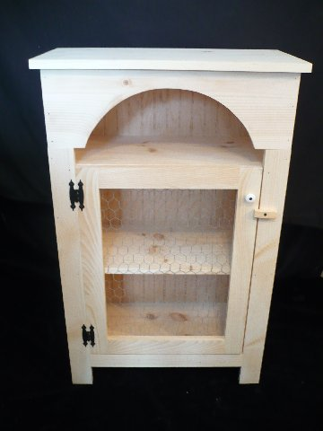 Home Decor  Unfinished Pine Chicken Wire Farmhouse Cabinet  Ohio Handcrafted Accents