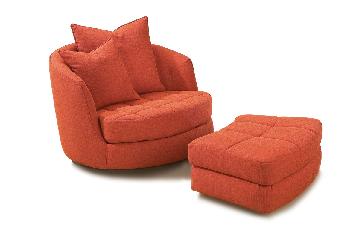 Giant Pillow Chair Thayer Coggin 956 103 Giant Swivel Tub Chair And 956 000