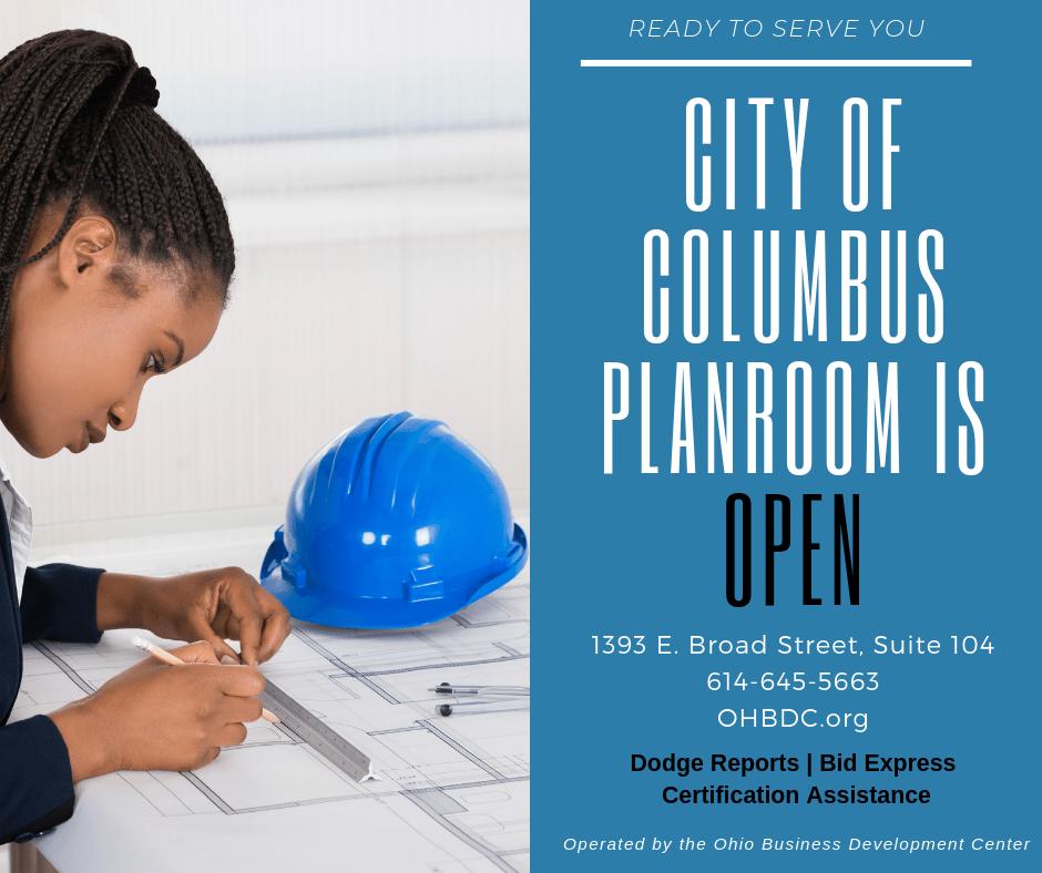 City of Columbus Planroom is open – OhioMBE