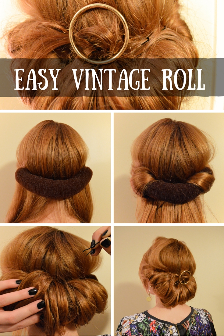 The Easiest UpDo The 3Minute Vintage Roll  Oh Julia Ann