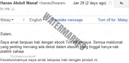 Semua maklumat penting ada dalam ebook ini.