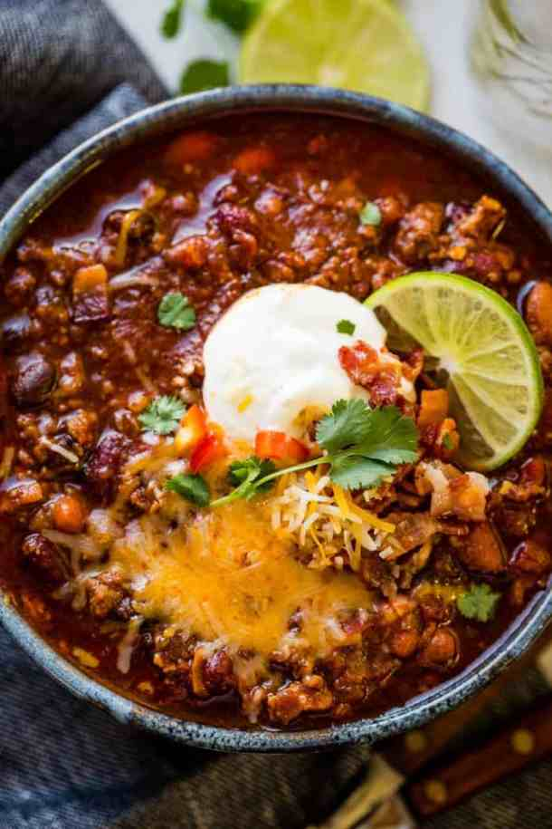Amazing Turkey Chili- Crazy Simple Super Bowl Food Ideas Guaranteed to Wow| Ohlade.com