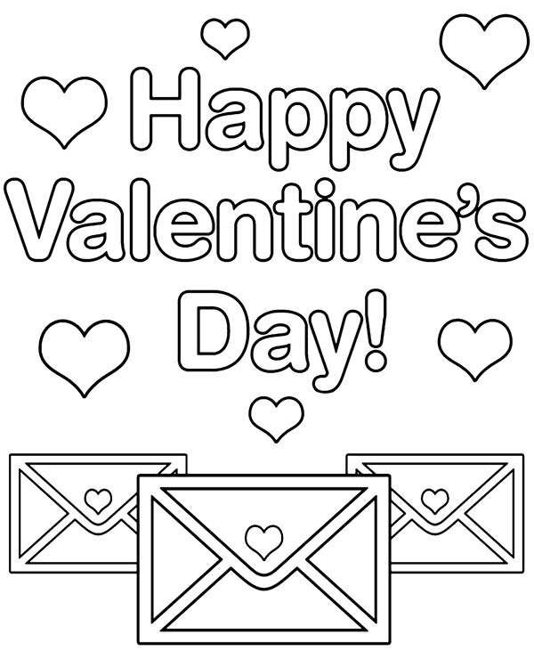 Happy Valetines coloring pages