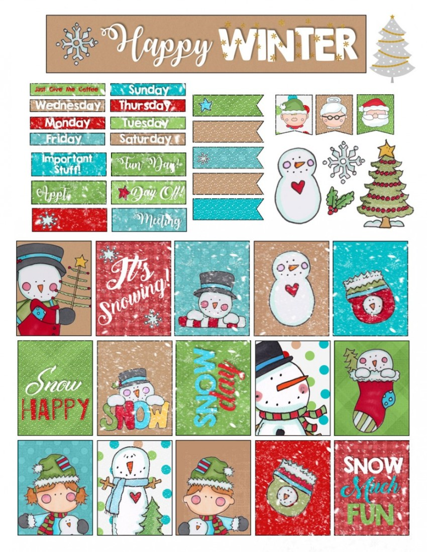 Christmas Bullet Planner Stickers