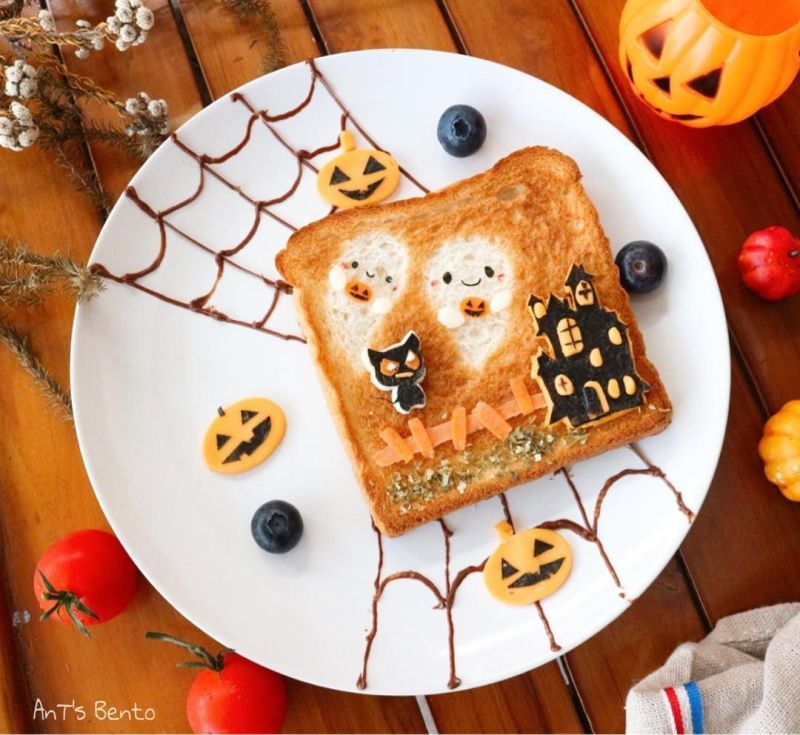 Halloween Breakfast toast ideas