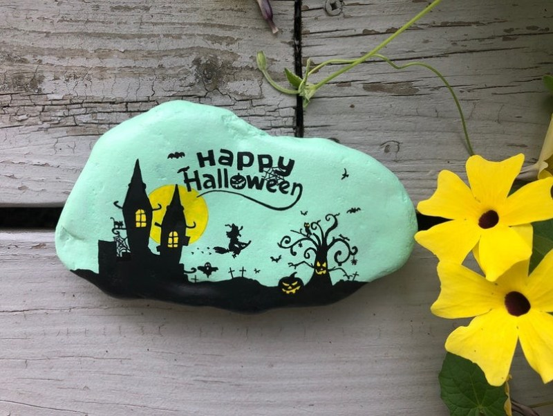 Happy Halloween Painted Rocks