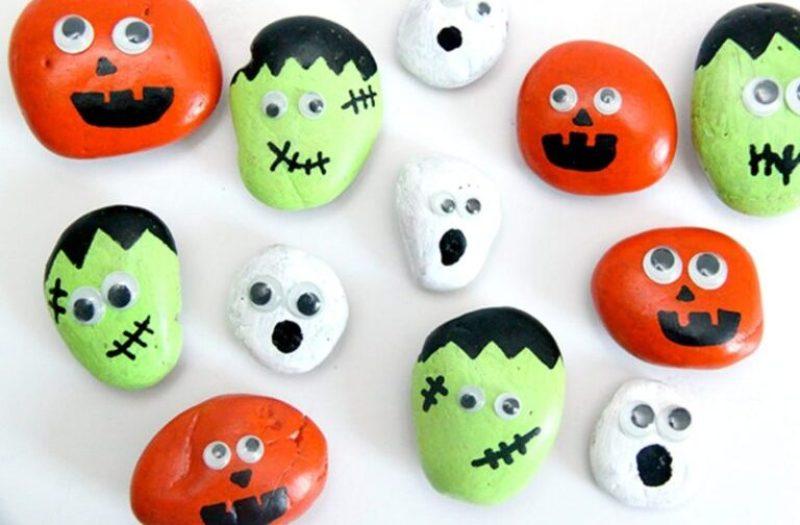 Halloween Googly eyes Painted Rocks