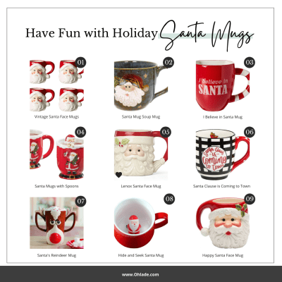 Holiday Santa Mugs