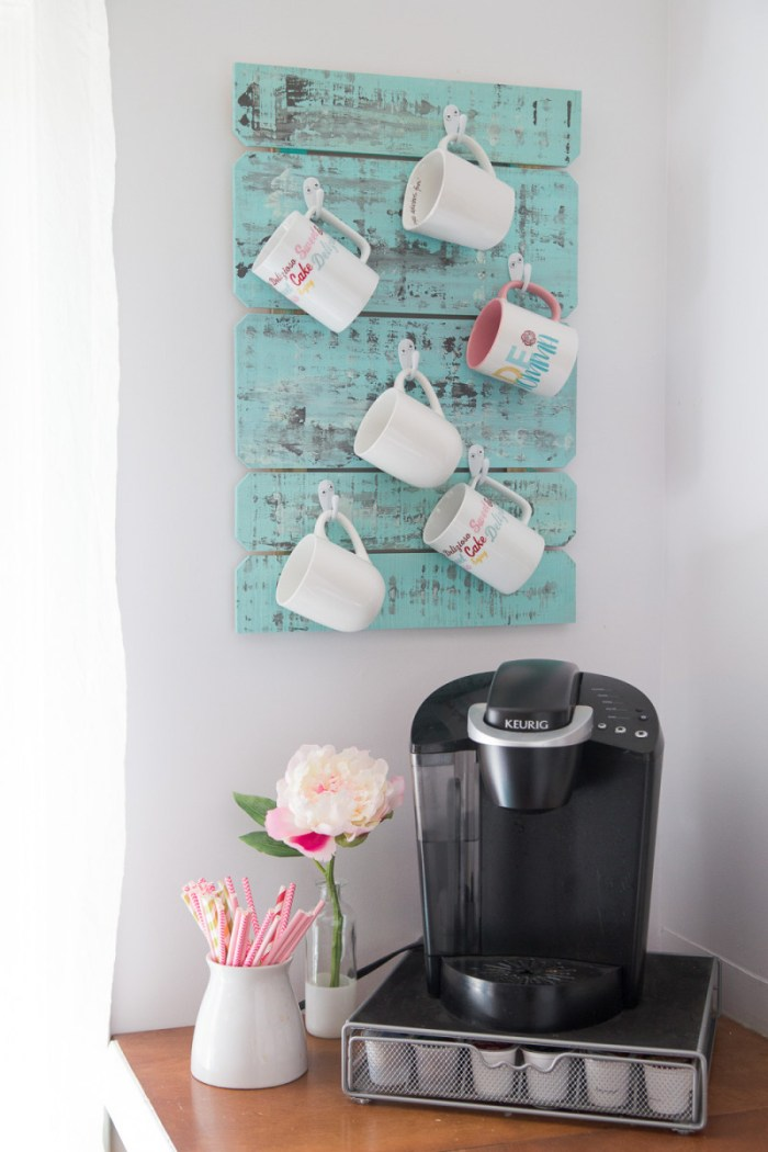 coffee bar station for small areas