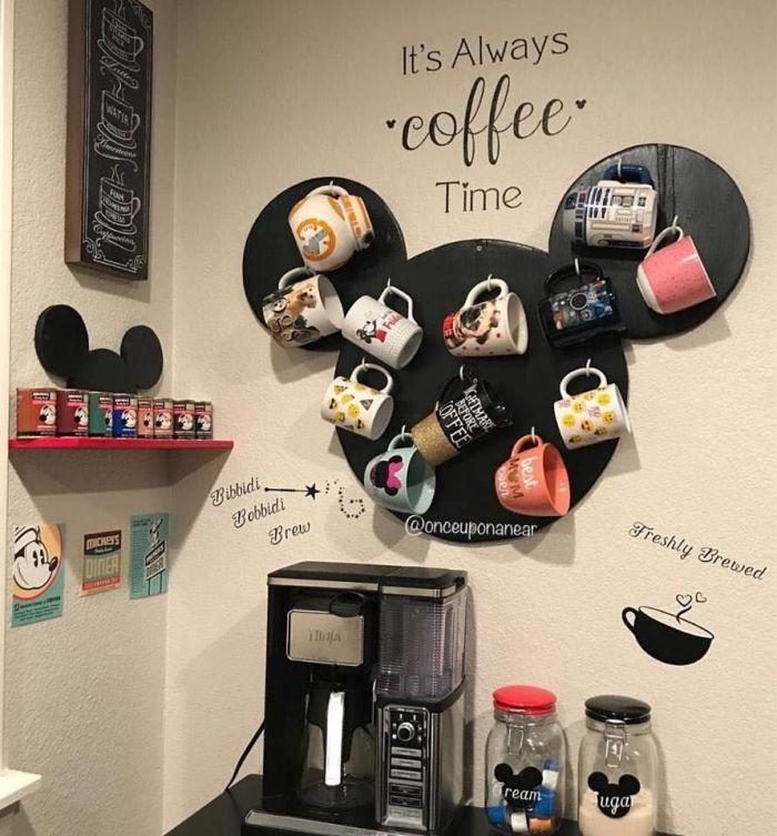 disney coffee bar set up