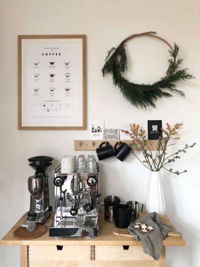 Modern coffee bar table