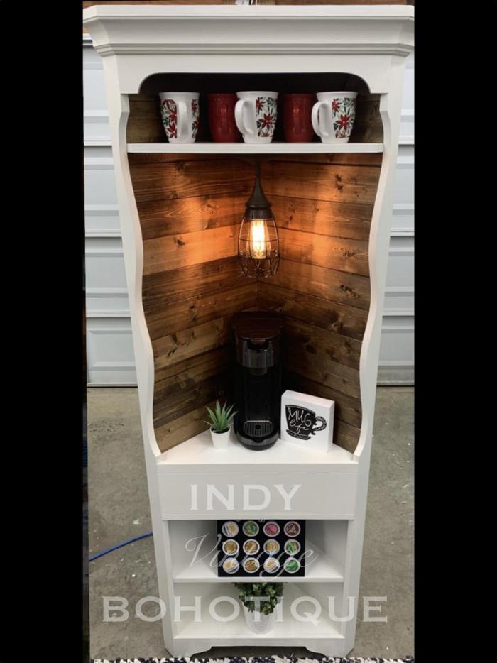 farmhouse coffee bar set up