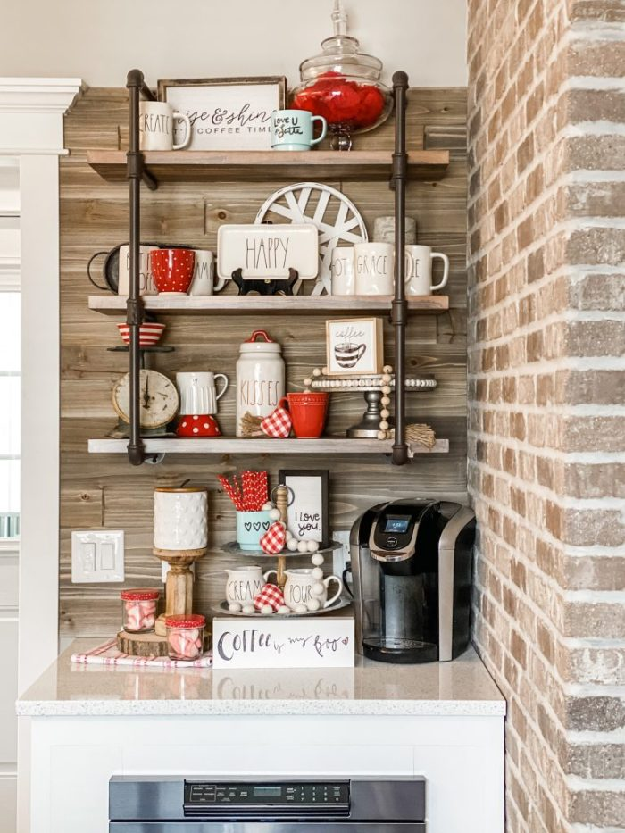 valentine coffee bar ideas