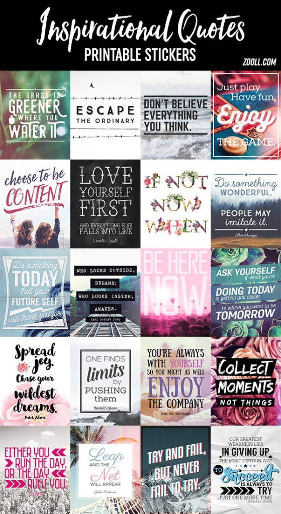 Inspirational Planner Sticker Quotes