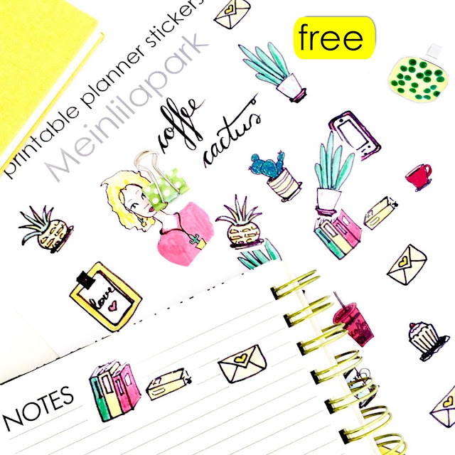 Free Coffee Printable Stickers