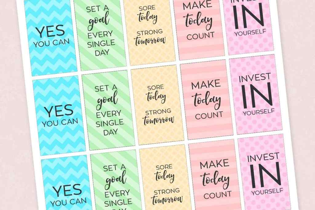 Fitness Printable Planner Stickers