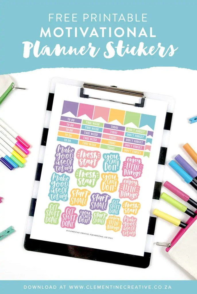 Motivational Printable Planner Stickers