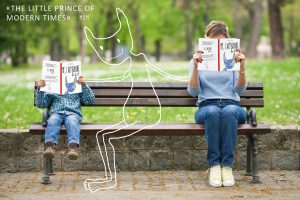 Two Readers on a Park Bench Bidule