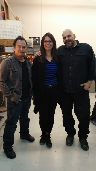 Kerry P.H. Wong, Stephanie Batailler, Gabe Bartalos at Atlantic West Effects, Burbank, CA