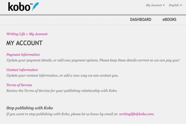 Kobo 101_account created