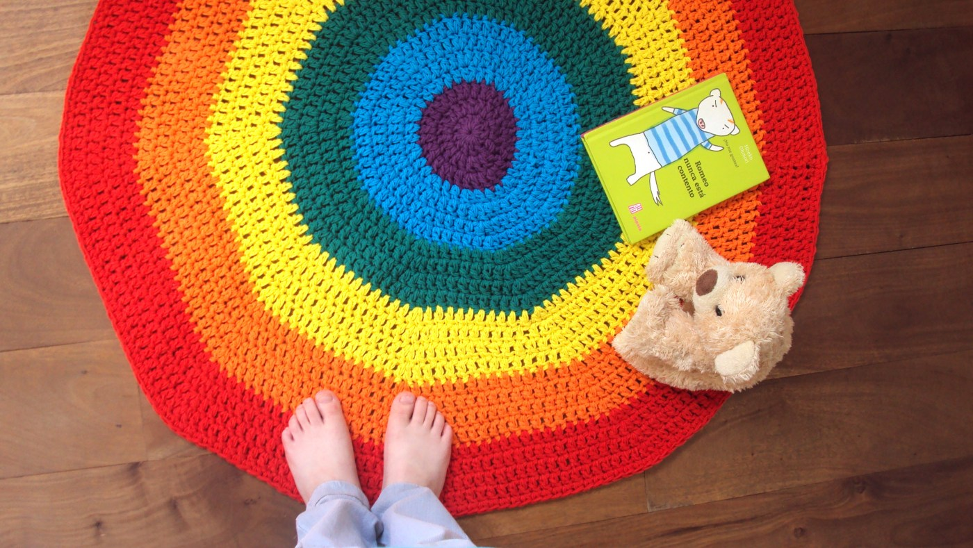 rainbow crochet playmat free pattern rug