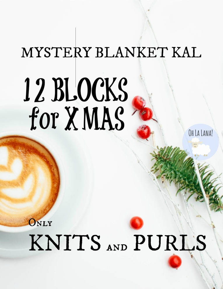 "FREE KNITTING BLANKET: ""12 Blocks for Xmas"""