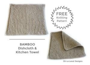 BAMBOO Dishcloth and Kitchen Towel FREE PATTERN