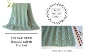 Zig Zag Seed / Moss Blanket FREE PATTERN