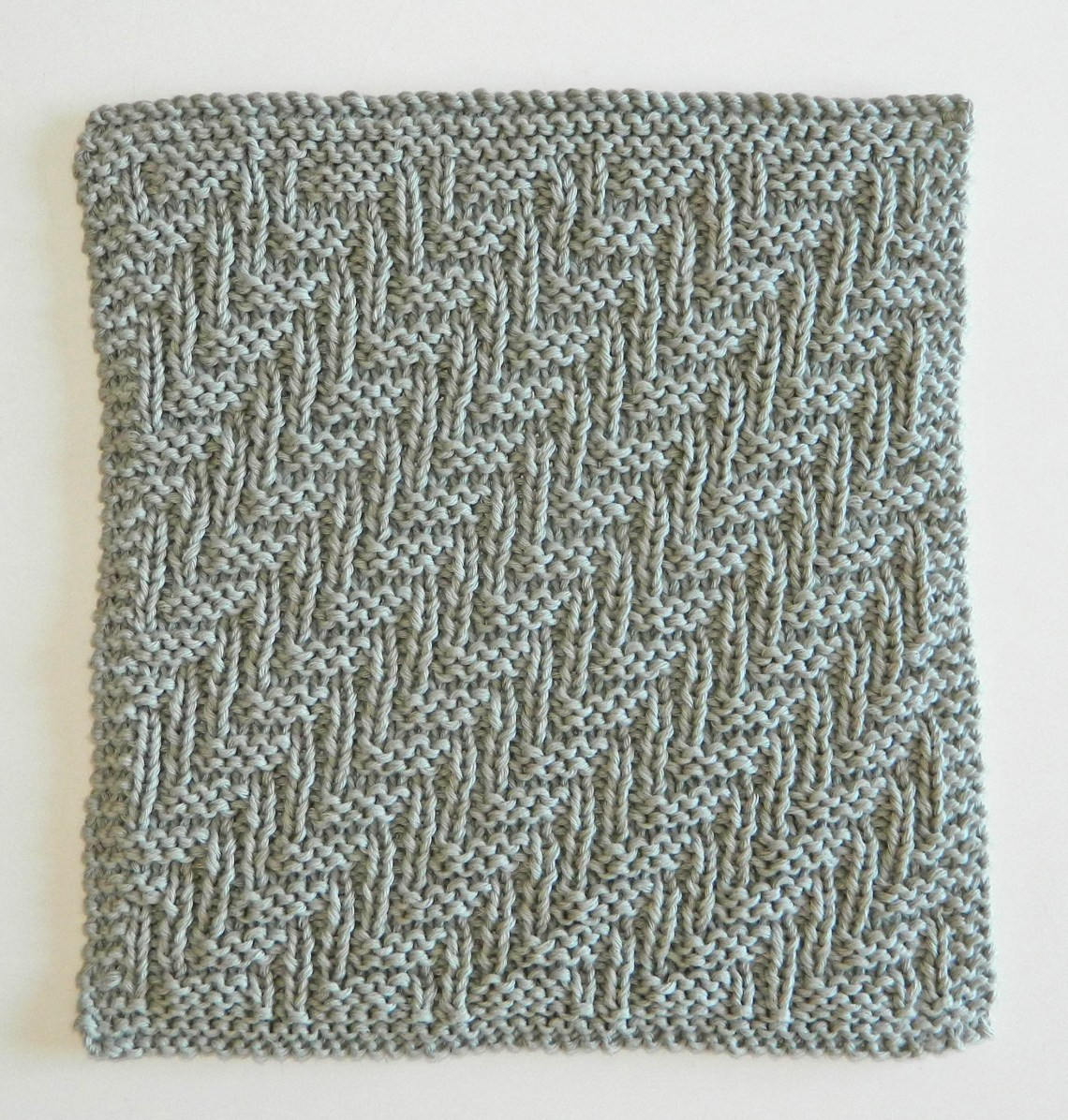 dishcloth free knitting pattern STAIRS 12 blocks Xmas