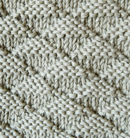 triangles stitch knitting pattern