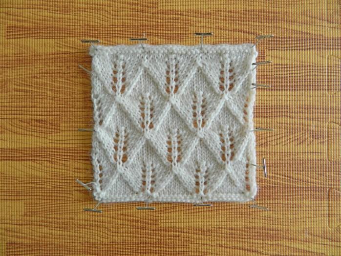 blocking knitting step by step