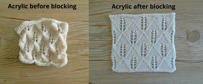 acrylic blocking knitting